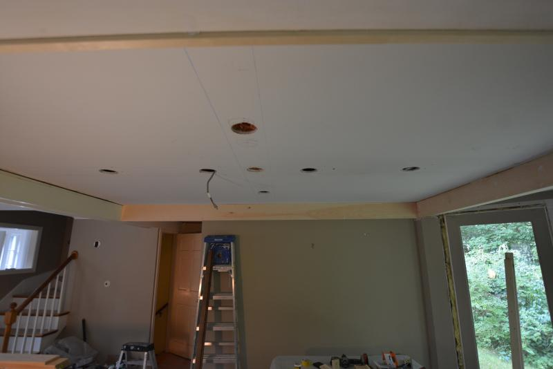 Adding a coffered ceiling for a dining room.